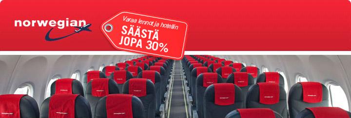 Norwegian Air - varaa edulliset lennot Travellinkilta.